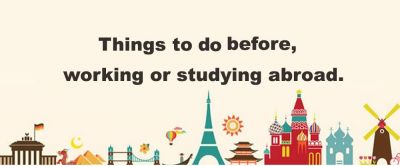 Things to do before studying abroad